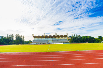 Running track with soccer field