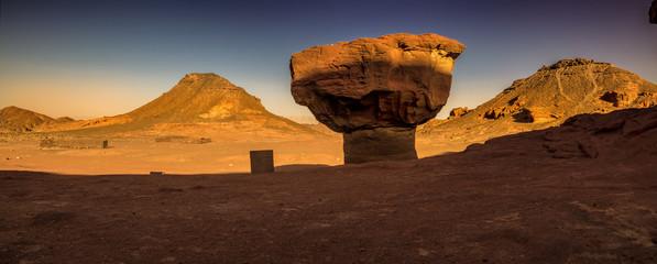 Panorama mushroom rock