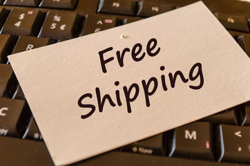 Free shipping text note