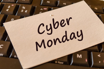 Cyber monday text note