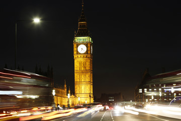 Fototapete - London Night view, include Big Ben