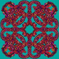 Printed kitchen splashbacks Moroccan Tiles Hand drawn vector doodle mandala
