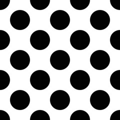 Vector modern seamless geometry pattern polka, black and white abstract geometric background, pillow print, monochrome retro texture, hipster fashion design