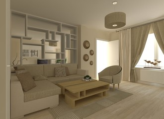 Living Room Interior Project