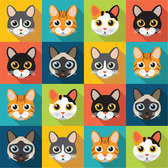 Pattern of cute cats