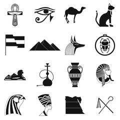 Egypt icons black