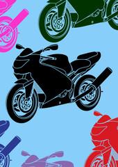 Pop art, moto