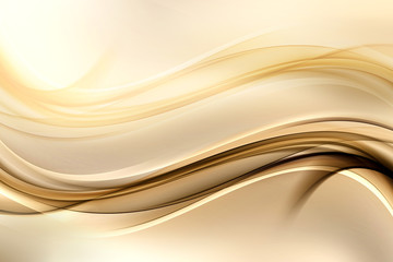 Printed kitchen splashbacks Fractal waves Abstract background with gold lines and waves. Composition of shadows and lights