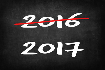 new year 2017 on Blackboard