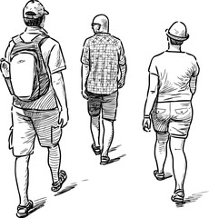 hiking sightseers