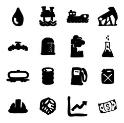 Oil Industry Icons Freehand Fill