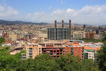 Spain. Barcelona Panorama - Autonomous Region of Catalonia's capital.
