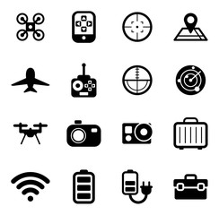 Drone Or Quadcopter Icons