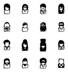 Avatar Icons Famous Musicians Set 2 Fill