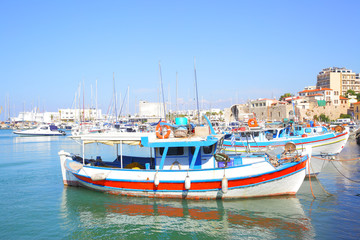 Fishing boats in port of Heraklion