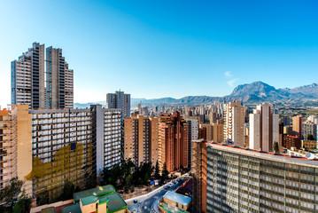 Modern skyscrapers of Benidorm. Costa Blanca. Spain