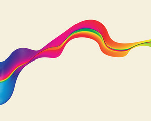 Abstract background colorful waves