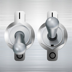 metal toggle switch. Vector illustration.