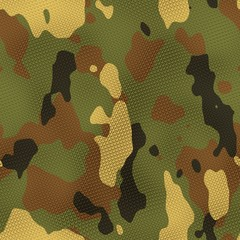 Cloth camouflage texture generated. Seamless pattern.