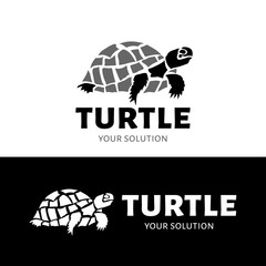 Vector logo turtle. Brand logo in the form of a turtle