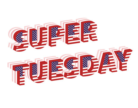 Super Tuesday Election Day in USA