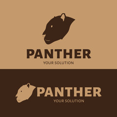 Vector logo Panther. Brown style