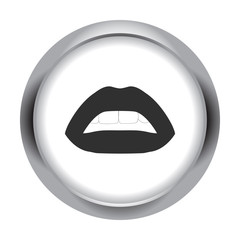 Lips simple icon on colorful background