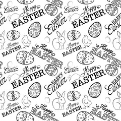 Happy Easter day pattern.