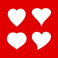 Vector hearts shapes