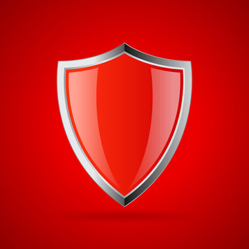 Red glass shield icon