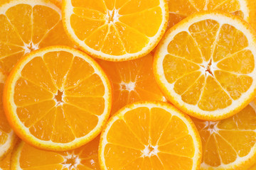 Colored background with orange citrus