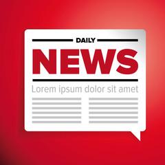 News icon label vector