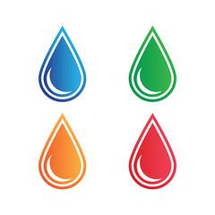 The liquid droplets