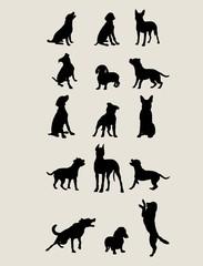 Dog Silhouettes , art vector design