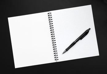 Blank sheet of notebook