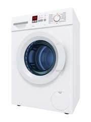 typical washing machine isolated