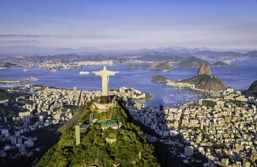 Aerial view o Botafogo Bay, Rio de Janeiro, Brazil