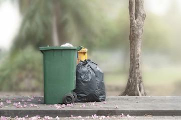 Bins and trash