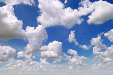 Aluminium Prints Heaven cumulus clouds in the blue sky