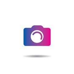 Vector Camera Logo Icon Flat Design
