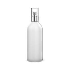 3d blank spray bottle on white background