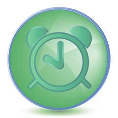 Icon Alarm color of malachite