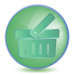Icon Basket color of malachite