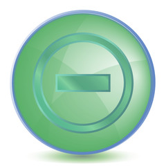 Icon Minus color of malachite