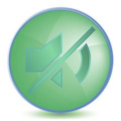 Icon Mute color of malachite