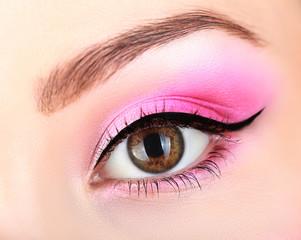 bright pink makeup