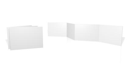 Aufbau Flyer - 8-Seiter- Din A4 / Din A5 / Din A6 (Accordion) - Horizontal