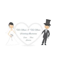 Hochzeitspaar Einladungskarte Herz