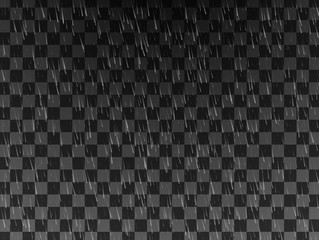 Rain. Background with rain. Rain drops on the transparent background. Rainy weather