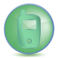 Icon Phone color of malachite
